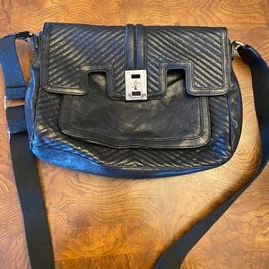L.A.M.B. Leather Messenger Bag